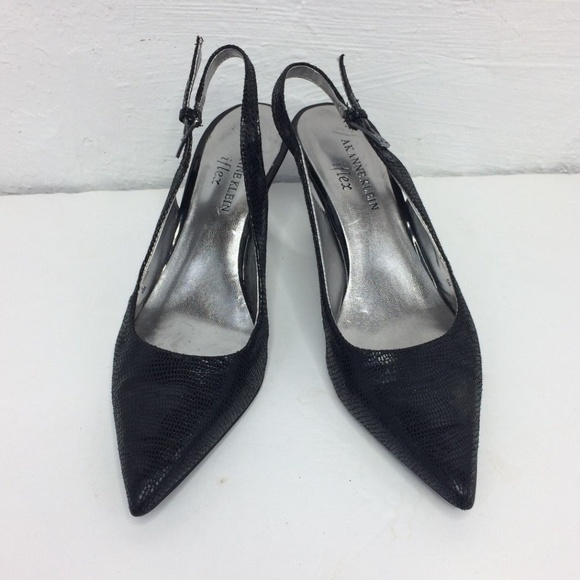 Black Slingback Pointed Toe Shoes
